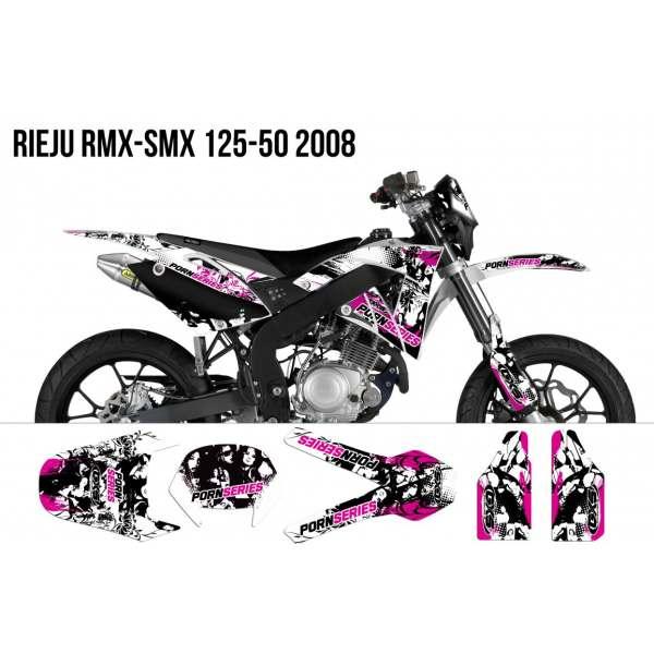kit Déco Rieju RMX-SMX 125-50 PORNSERIES 2009 Kit Déco Rieju