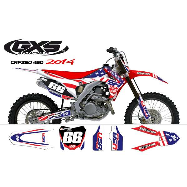 Kit déco Honda 250-450 CRF 2014 USA