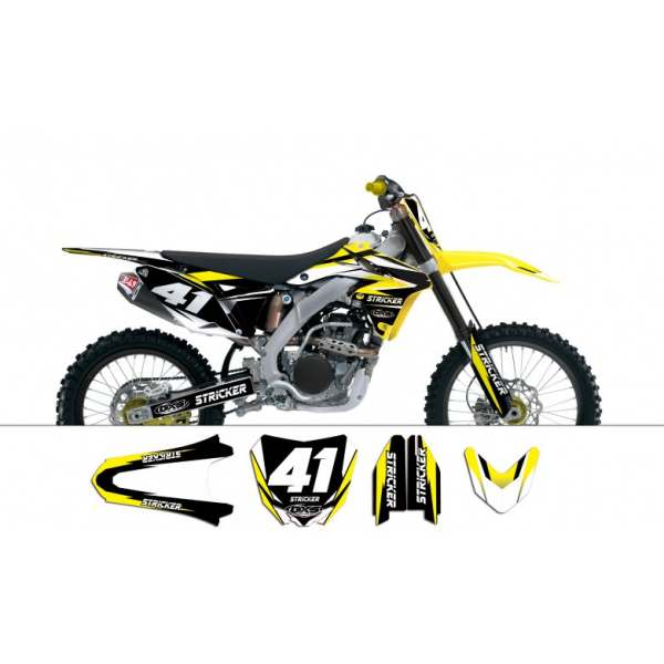 Kit déco Suzuki RMZ250 2011-2014 STRICKER