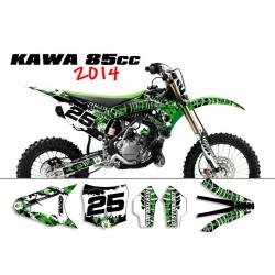 Kit déco Kawasaki 85 KX 2014 SURRENDER