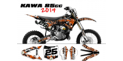 Kit déco Kawasaki 85 KX 2014 SURRENDER