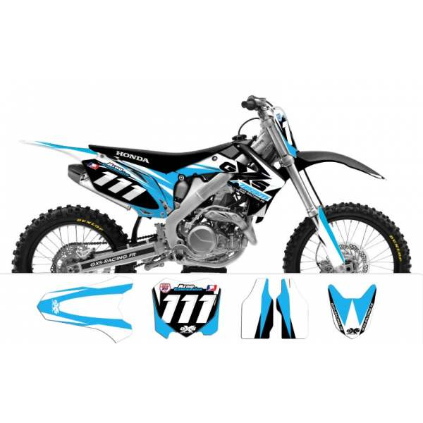 Kit déco Honda CRF250-450 2009-2012 TEAM GXS