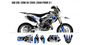 Kit Déco HM 50cc 2007-2012 Pornseries V1