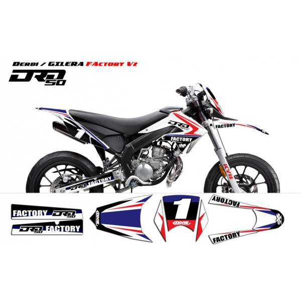Kit Déco Derbi DRD X-Treme 2011-2013 / GILERA Factory v2
