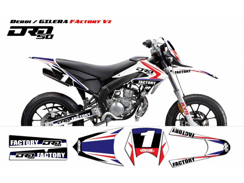Kit Déco Derbi DRD X-Treme 2011-2013 / GILERA Factory v2