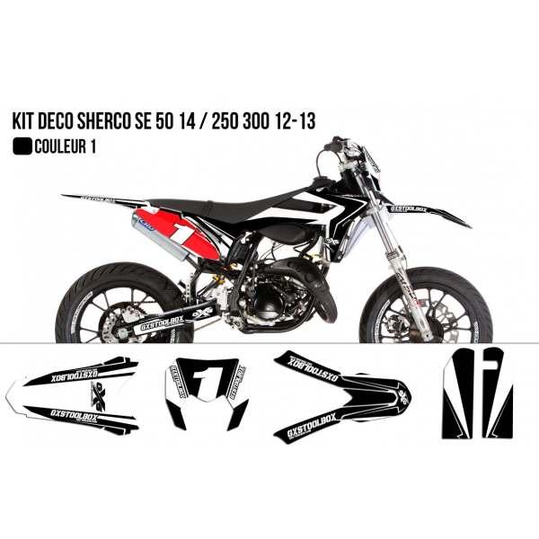 Kit Déco Sherco SE 50cc 2014 / 250 300cc 2012-2013 Model Replica Kit Déco Sherco / Hrd