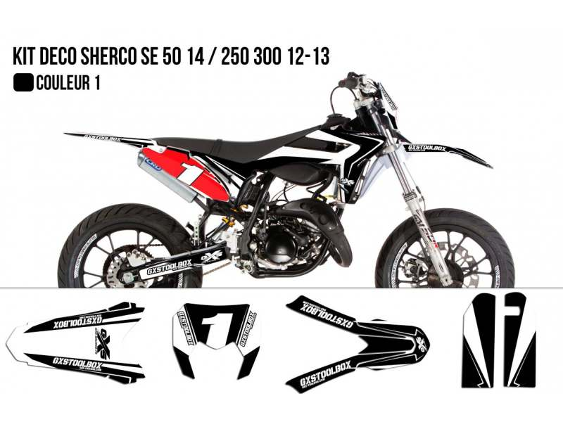 Kit Déco Sherco SE 50cc 2014 / 250 300cc 2012-2013 Model Replica