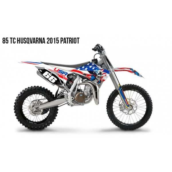 Kit déco 85 TC HUSQVARNA 2015 PATRIOT Kit Déco Husqvarna Standard