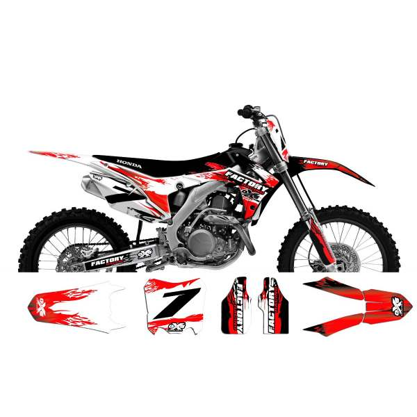 Kit déco Honda 250-450 CRF 2014 Flaming