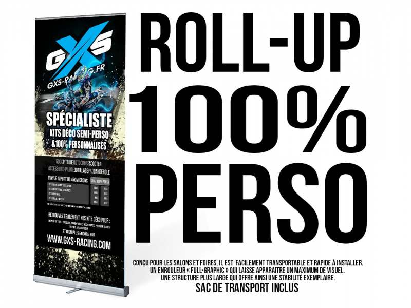 Roll-Up Classic 1 face 100% Perso