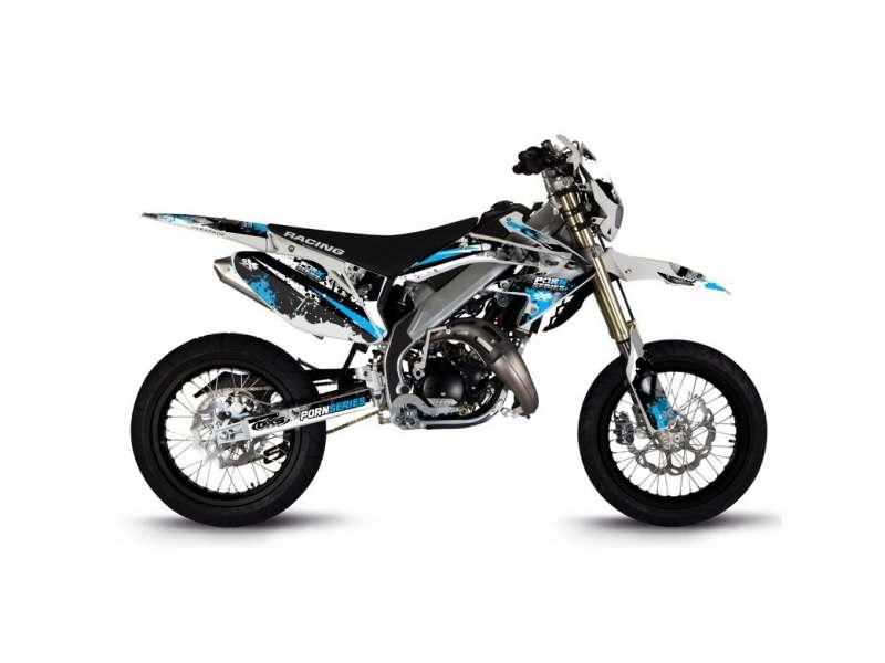 Kit Déco HM 50cc 2007-2012 Pornseries V2 Cyan