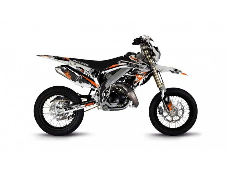 Kit Déco HM 50cc 2007-2012 Pornseries V2 Orange