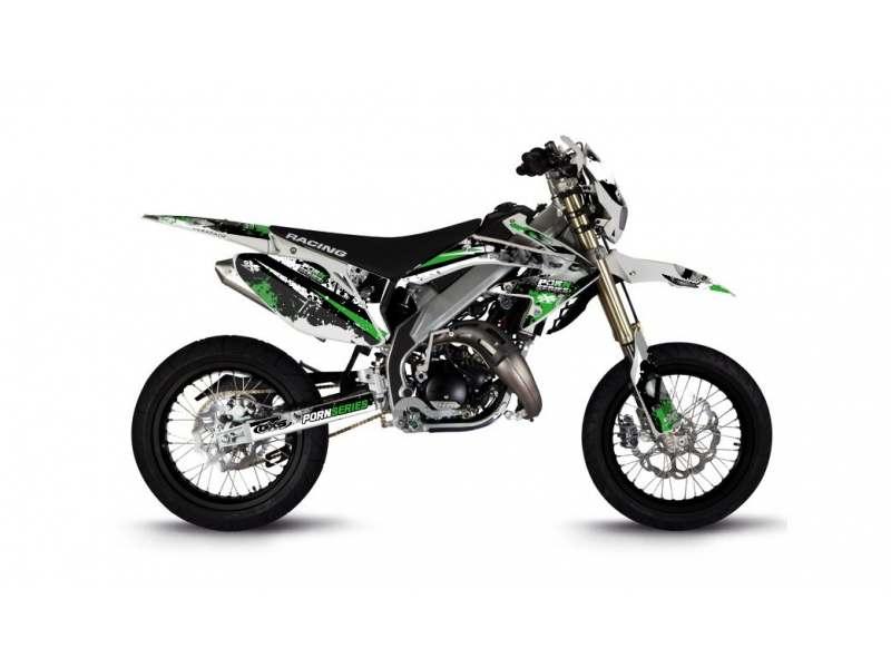 Kit Déco HM 50cc 2007-2012 Pornseries V2 Vert