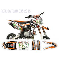 Kit Déco Pitsterpro LXR F Replica GXS Orange