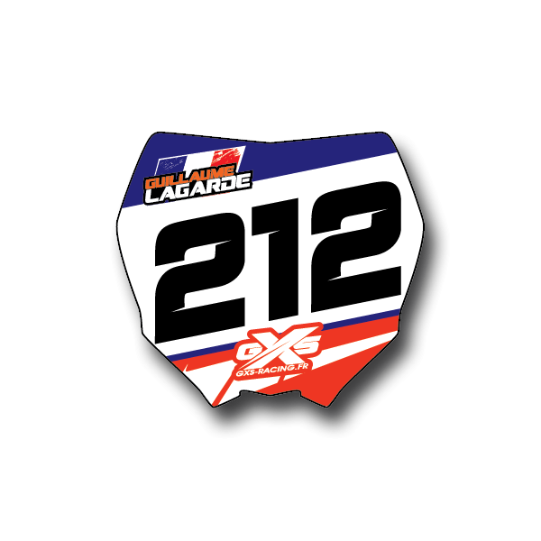 Mini Plaques Motocross type Yam Lot de 20 mini plaques à vos couleurs ! Vinyle MX épais