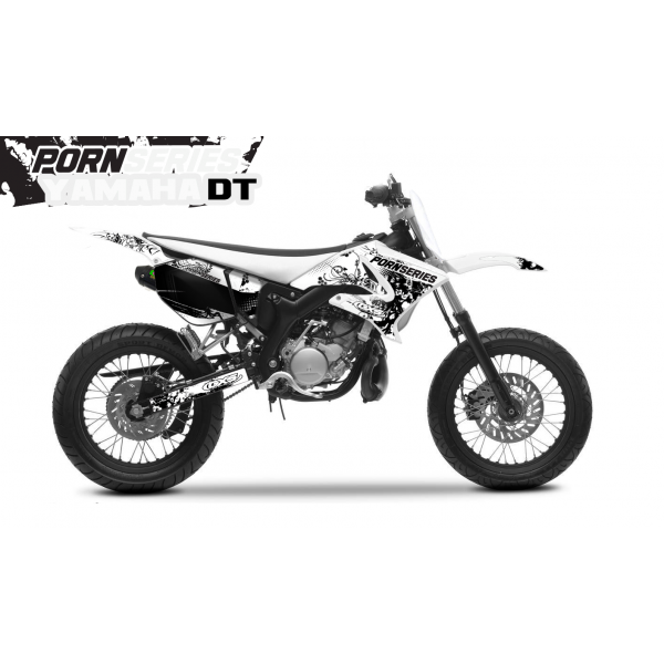 Kit Déco Yamaha DT50 Pornseries v1 Blanc