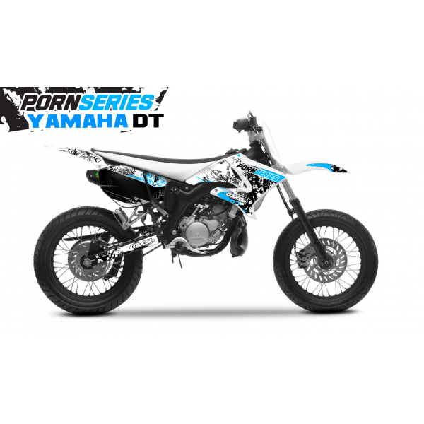 Kit Déco Yamaha DT50 Pornseries v1 Cyan