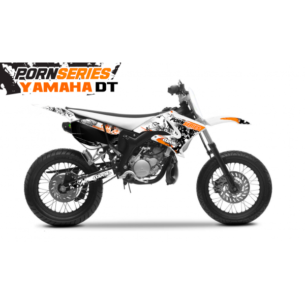 Kit Déco Yamaha DT50 Pornseries v1 Orange