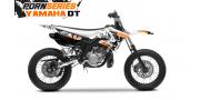 Kit Déco Yamaha DT50 Pornseries v1 Orange