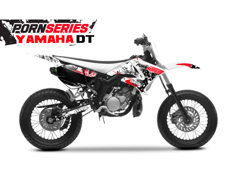 Kit Déco Yamaha DT50 Pornseries v1 Rouge