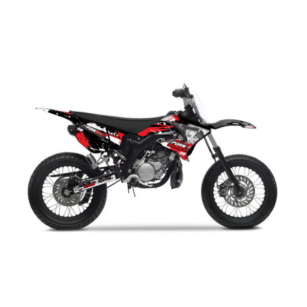 Kit Déco Yamaha DT50 PORNSERIES V2 2004-2018 ROUGE