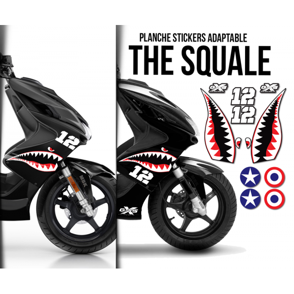 Planche Stickers Adaptable THE SQUALE Stickers