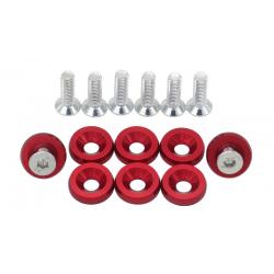 Rondelles aluminium anodisé X8
