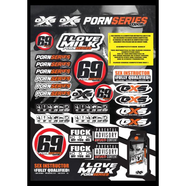 Planche A3 Stickers PORNSERIES Stickers