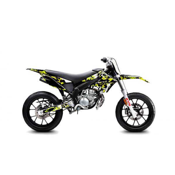 Kit Déco Derbi DRD X-Treme 11-17 GILERA DIGITAL PORN Jaune