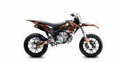 Kit Déco Derbi DRD X-Treme 11-17 GILERA DIGITAL PORN Orange