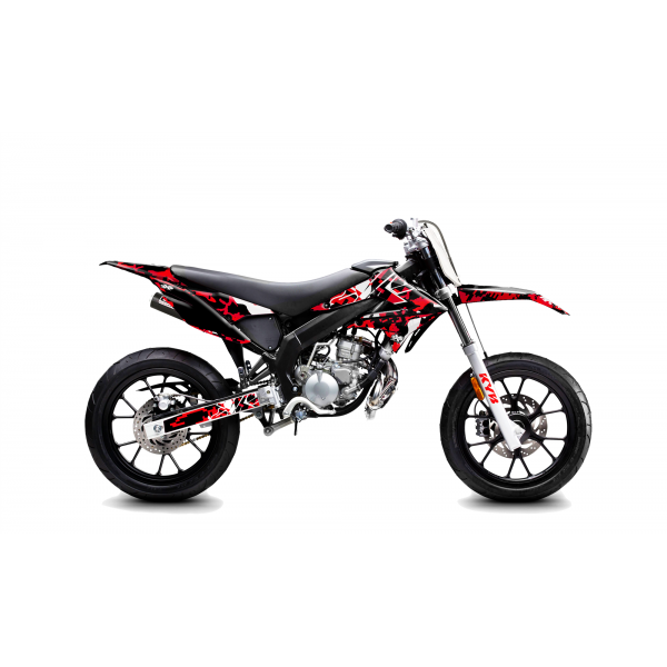 Kit Déco Derbi DRD X-Treme 11-17 GILERA DIGITAL PORN Rouge
