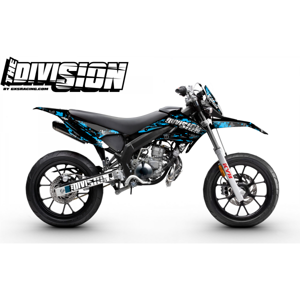 Kit Déco DERBI DRD RACING 2011-2017 THE DIVISION Cyan