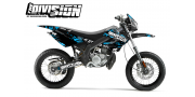 Kit Déco Derbi X-treme 05-09 THE DIVISION Cyan