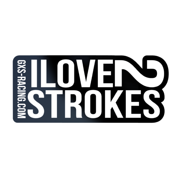 Stickers motocross i love two strockes
