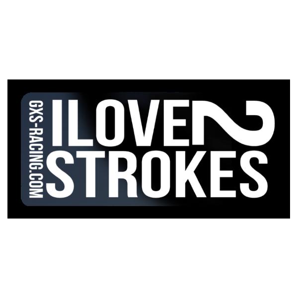 Sticker I Love 2 Strokes Stickers