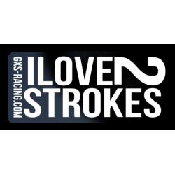Sticker I Love 2 Strokes