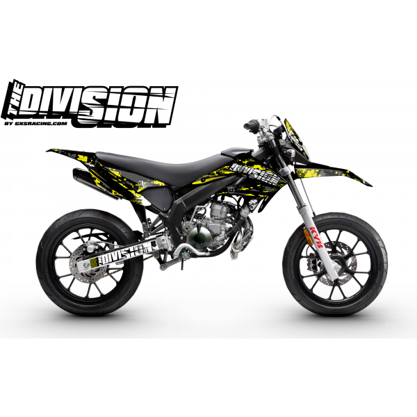 Kit Déco DERBI DRD RACING 2011-2017 THE DIVISION Jaune