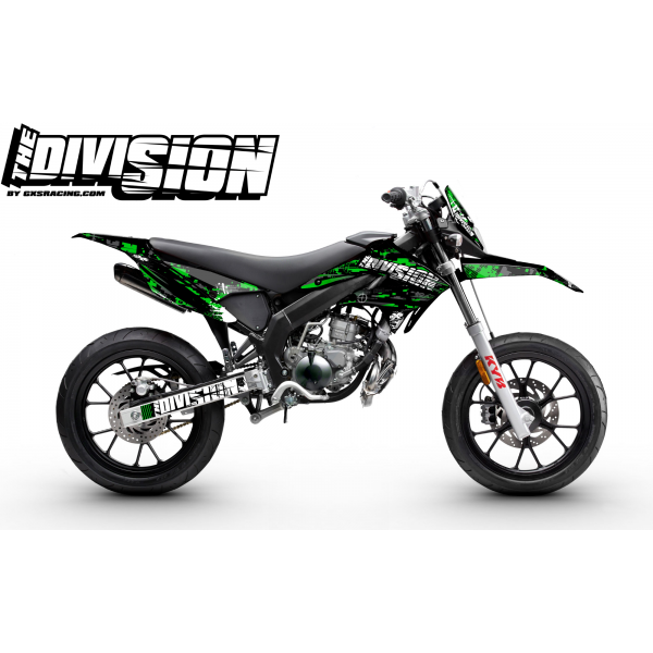 Kit Déco DERBI DRD RACING 2011-2017 THE DIVISION Vert