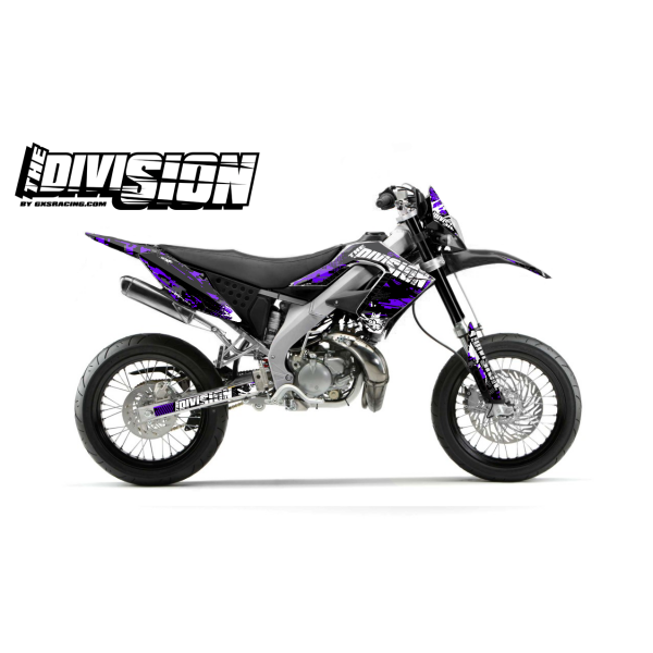 Kit DÉCO DERBI DRD PRO 2006-2009 THE DIVISION Violet