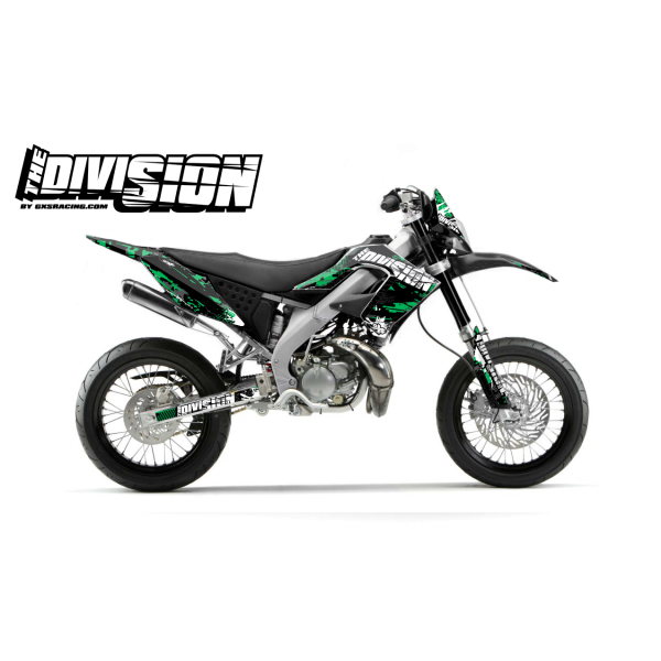 Kit DÉCO DERBI DRD PRO 2006-2009 THE DIVISION Petro