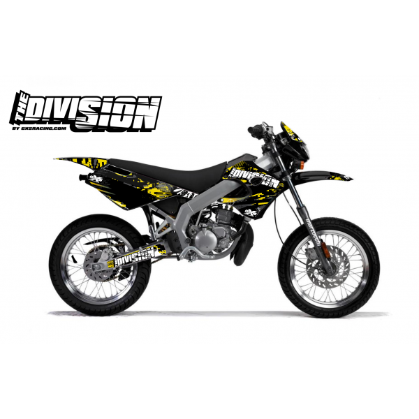 Kit Déco Derbi X-RACE 03-07 THE DIVISION Jaune