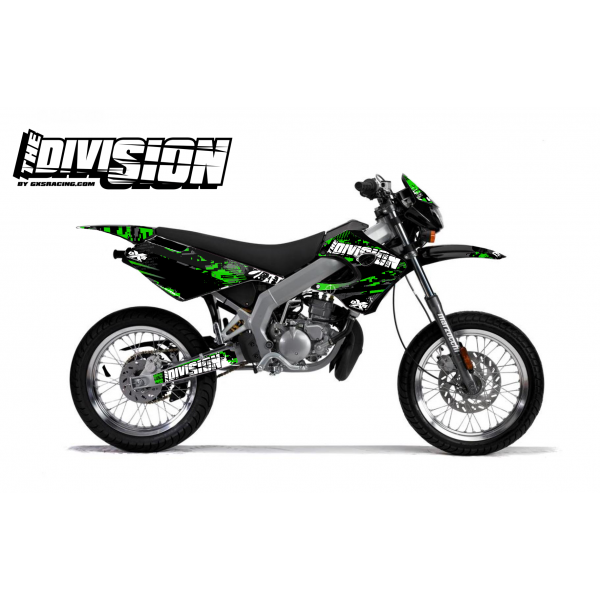 Kit Déco Derbi X-RACE 03-07 THE DIVISION Vert