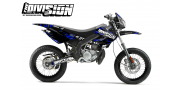 Kit Déco Derbi X-treme 05-09 THE DIVISION Bleu