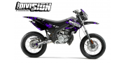 Kit Déco Derbi X-treme 05-09 THE DIVISION Violet