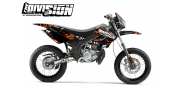 Kit Déco Derbi X-treme 05-09 THE DIVISION Orange