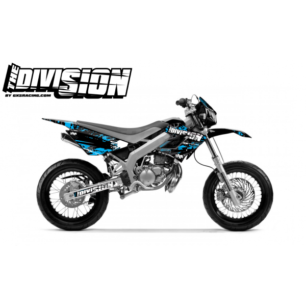 Kit DÉCO DERBI DRD RACING 2004-2009 THE DIVISION Cyan