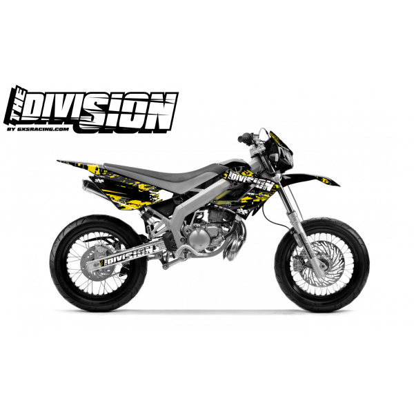Kit DÉCO DERBI DRD RACING 2004-2009 THE DIVISION Jaune