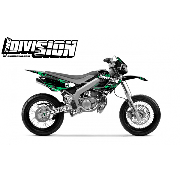 Kit DÉCO DERBI DRD RACING 2004-2009 THE DIVISION Vert