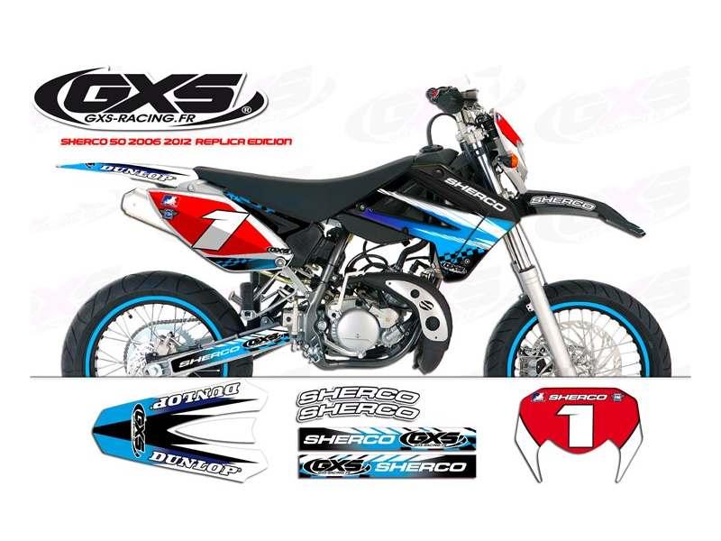 kit Déco Sherco 50cc 2007/2012 Replica edition