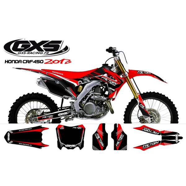 Kit déco Honda 250-450 CRF 2014 Factory Team Dash